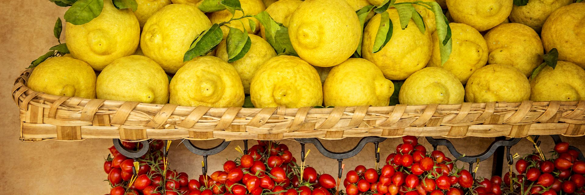 Lemons grown on the Amalfi Coast, Italy