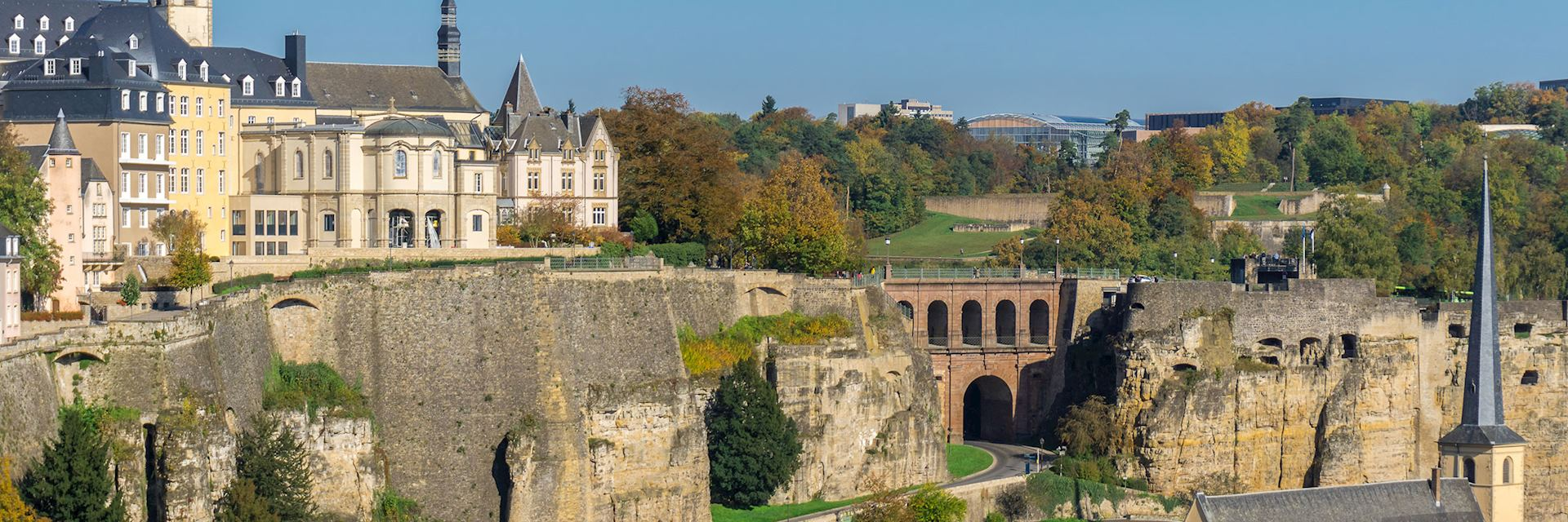 Aerial view of Old Town, Luxembourg City