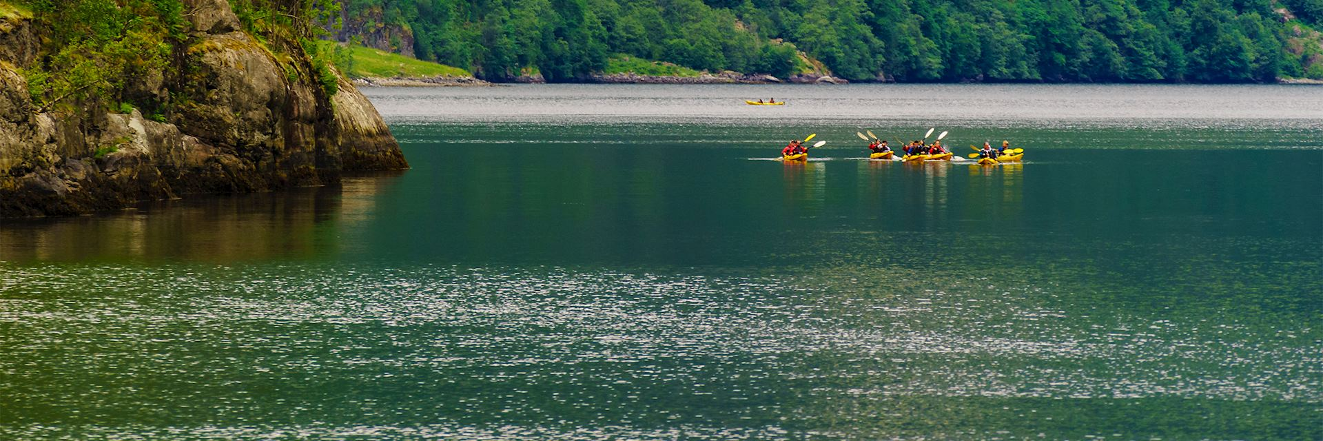 Kayaking from Balestrand, Norway