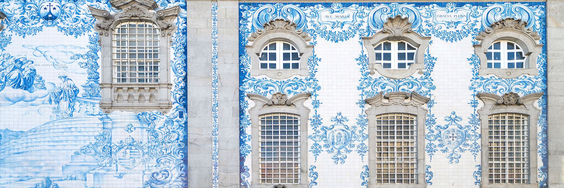 Traditional tiled church, central Porto
