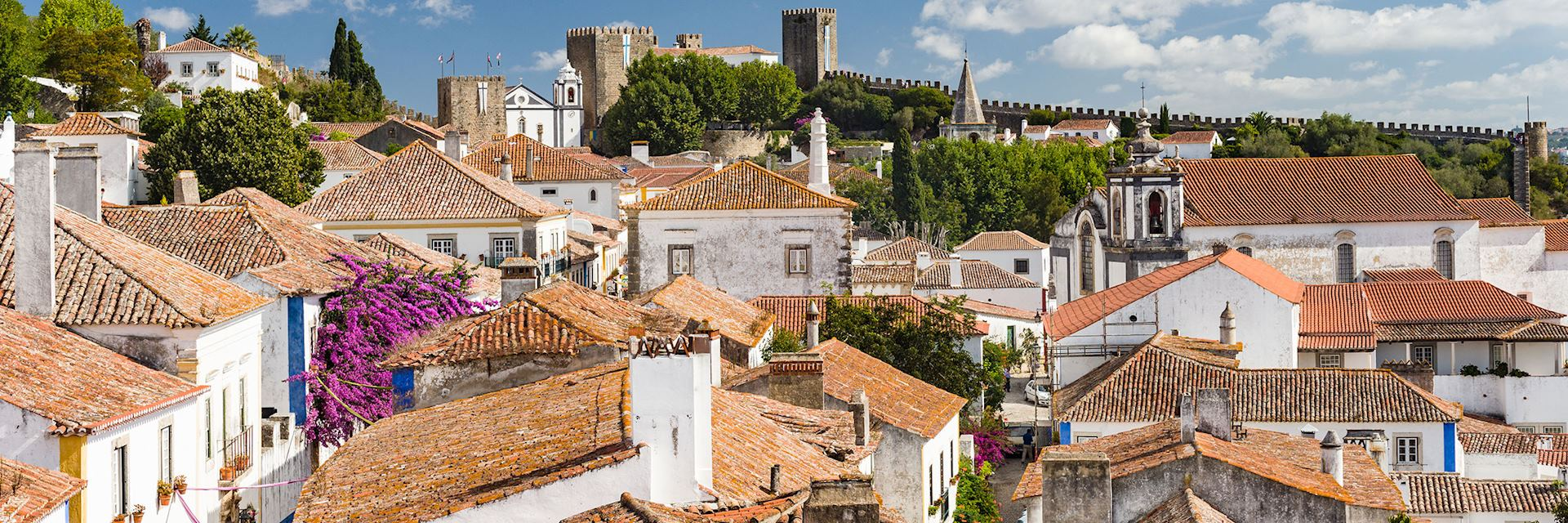 The fortified village of Obidos, Portugal