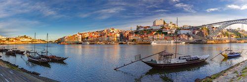 Rabelo boats, Douro River, Porto, Portugal