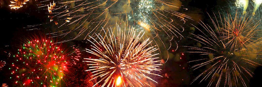 Bonfire night, fireworks display