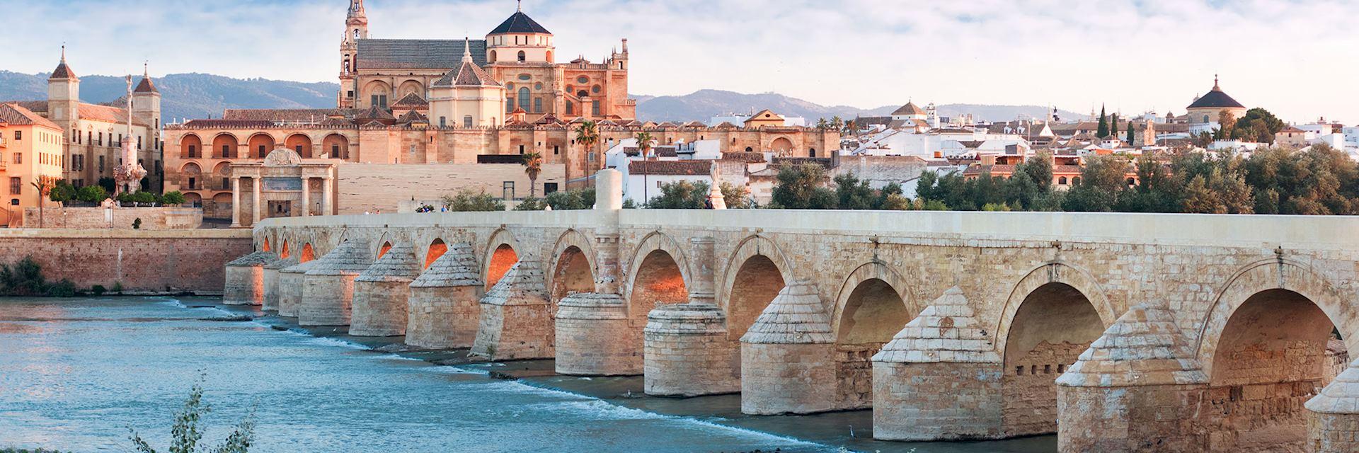 Roman Bridge and Guadalquivir river, Great Mosque, Cordoba