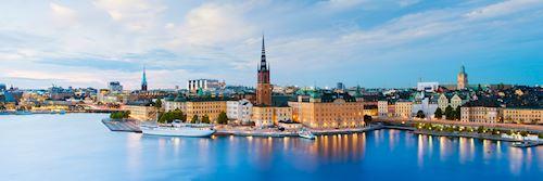 Skyline in Stockholm, Sweden