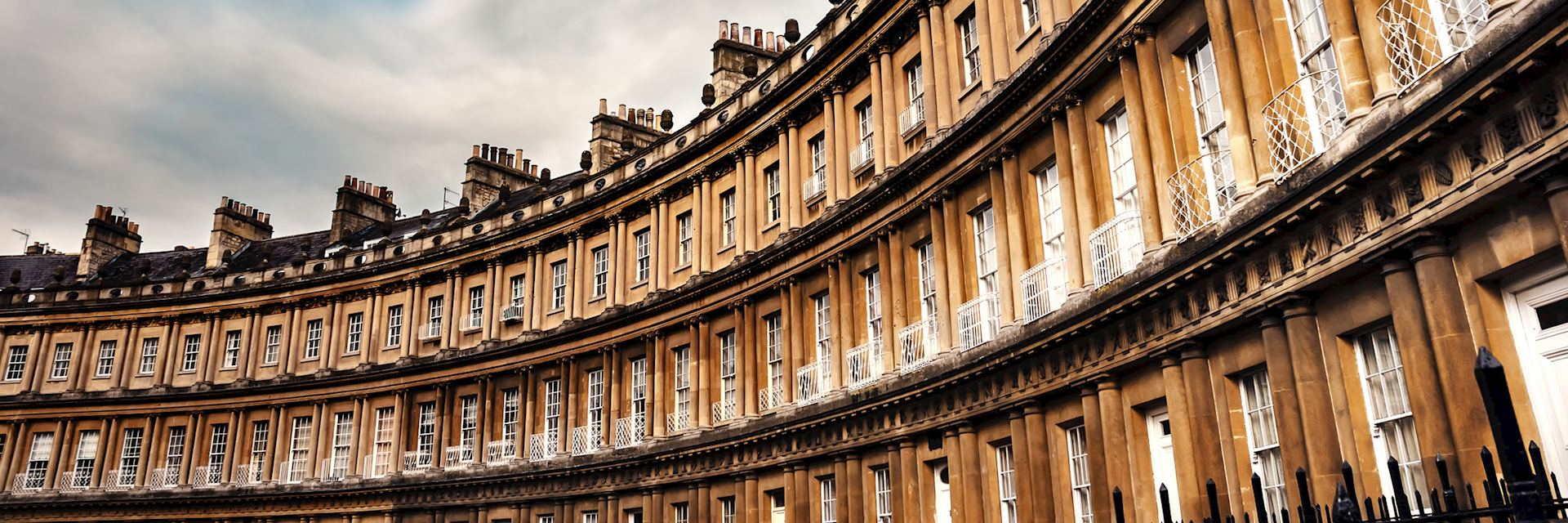 The Royal Crescent building, Bath