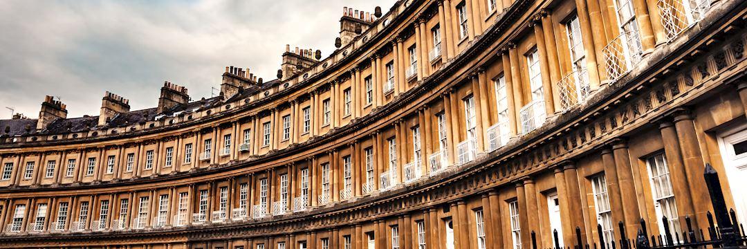The Royal Crescent building, Bath