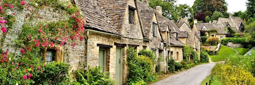 Bibury village in the Cotswolds, England