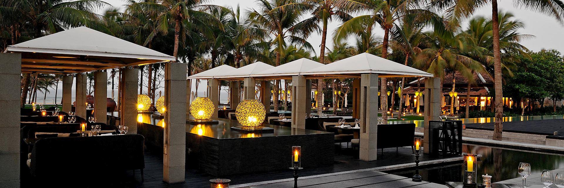 The restaurant at the Nam Hai, Hoi An