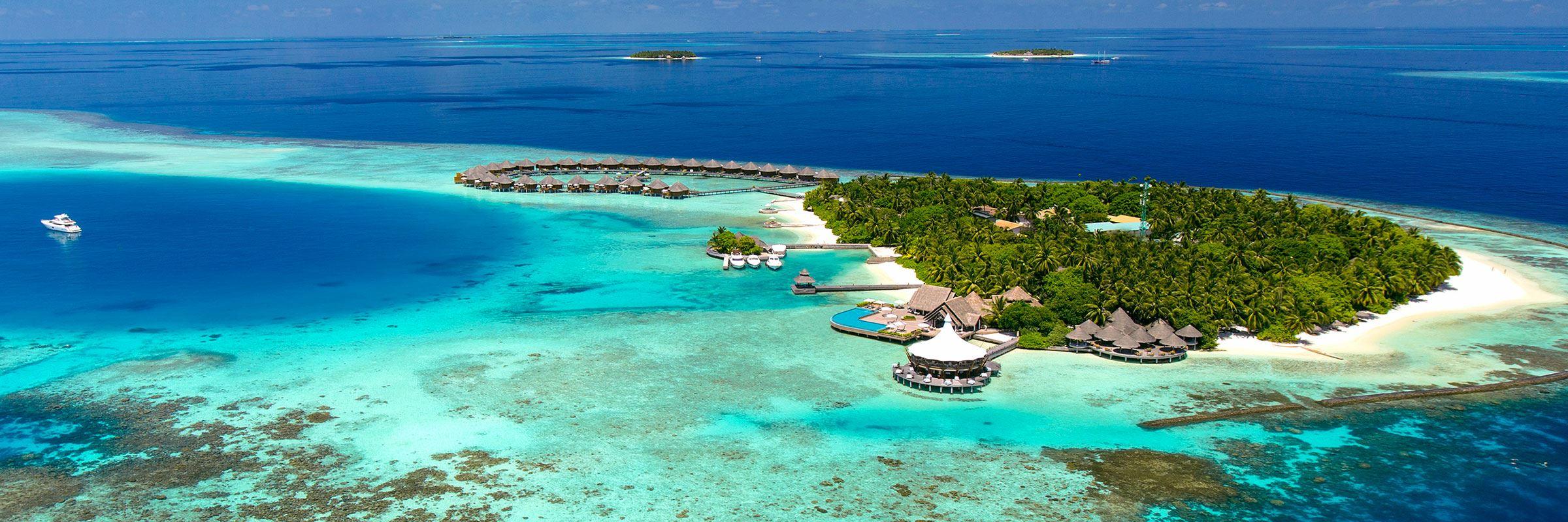 Aerial view, Baros, Maldives