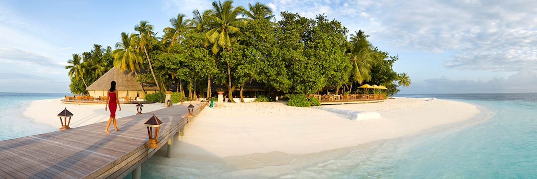 Jetty, Ihuru Island on the Maldives