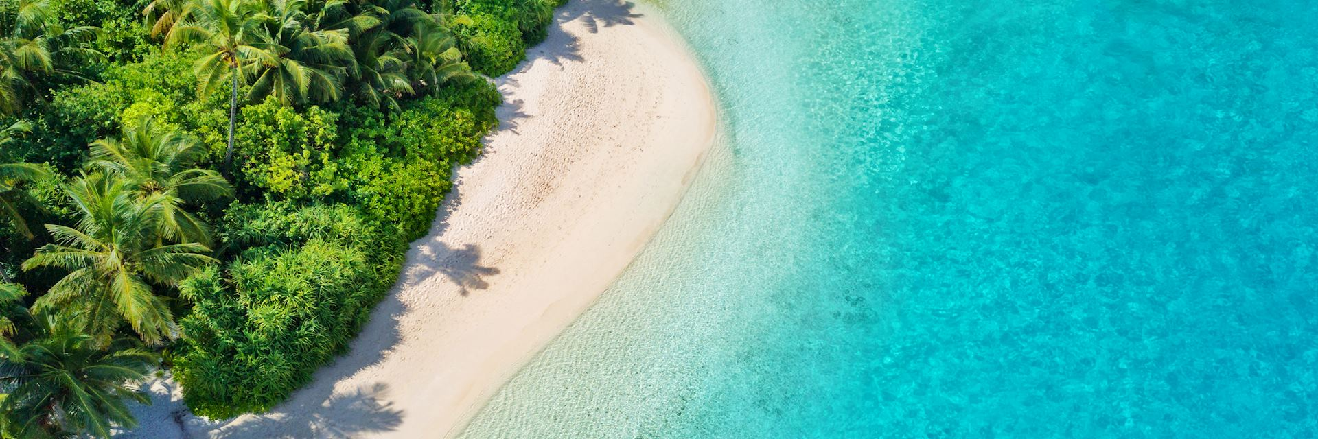Maldives beach aerial view