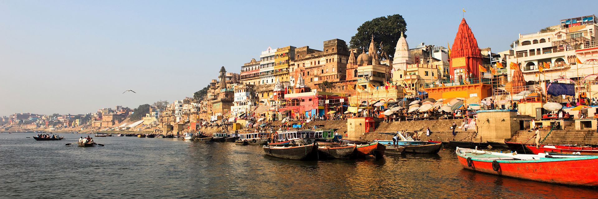 Riverside ghats, Varanasi, India