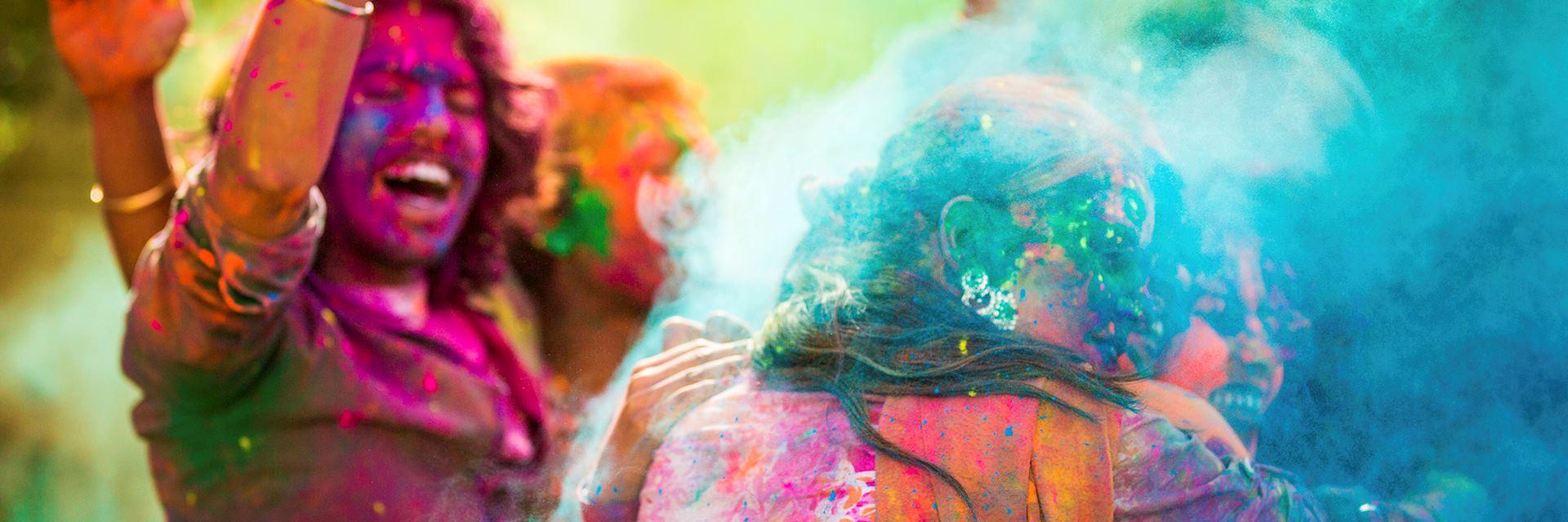Holi festival of colours in India