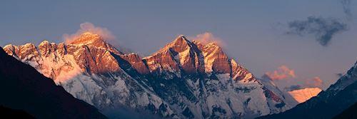 Nuptse Lohtse and the Himalaya