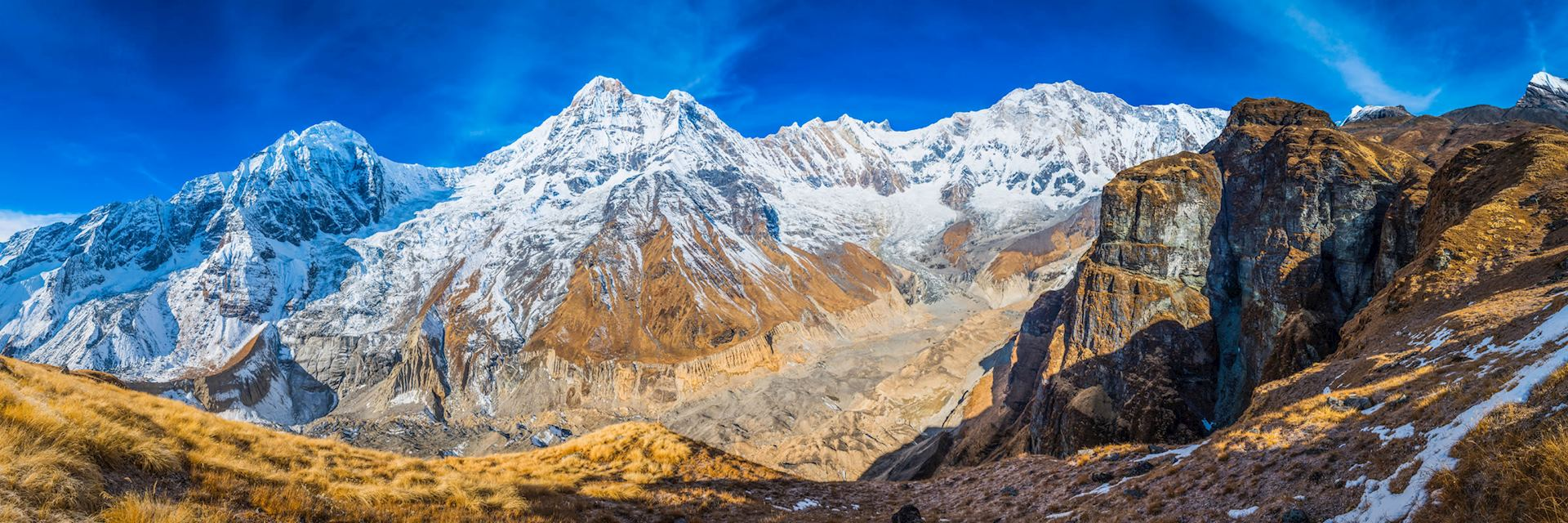 The Annapurna Range in Nepal