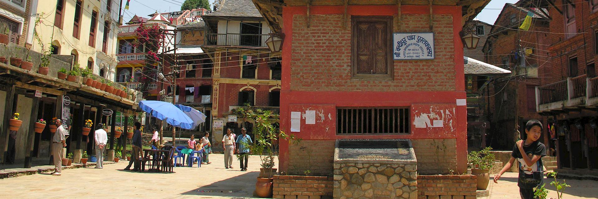 Main street in Bandipur, Nepal