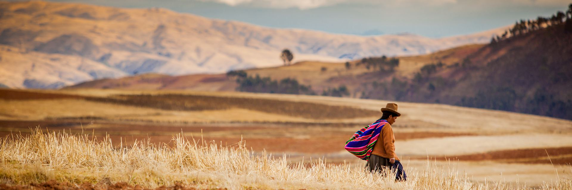 Local wearing traditional clothing in Peru