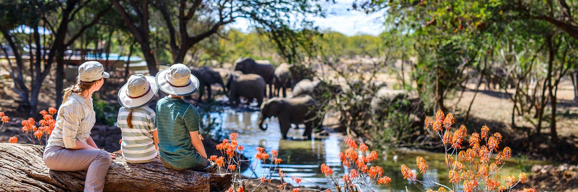 Family on an African safari