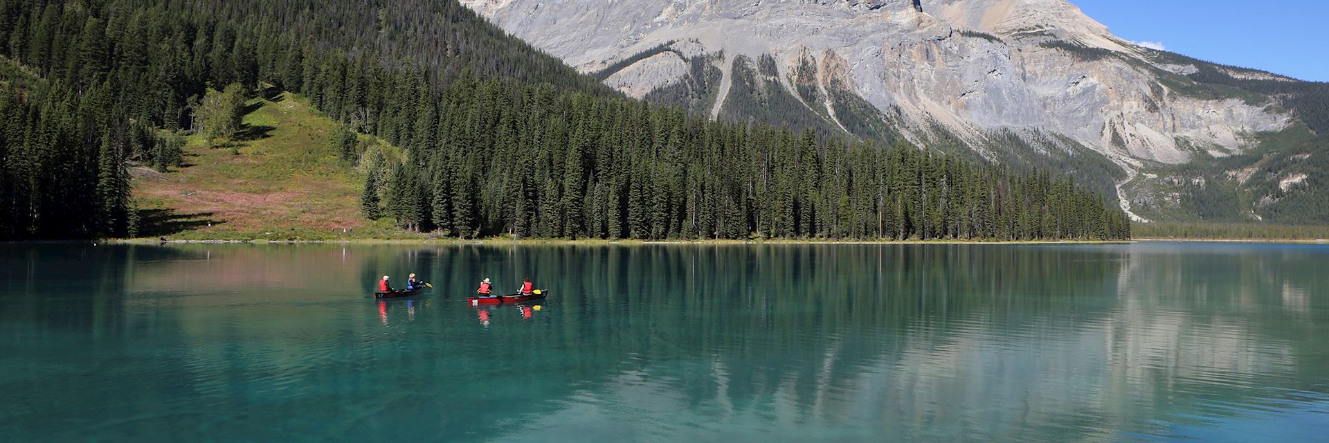 Canoeing on the Emerald Lake, Canada