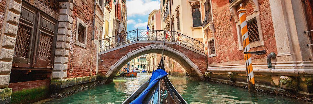 Gondola boat trip in Venice, Italy