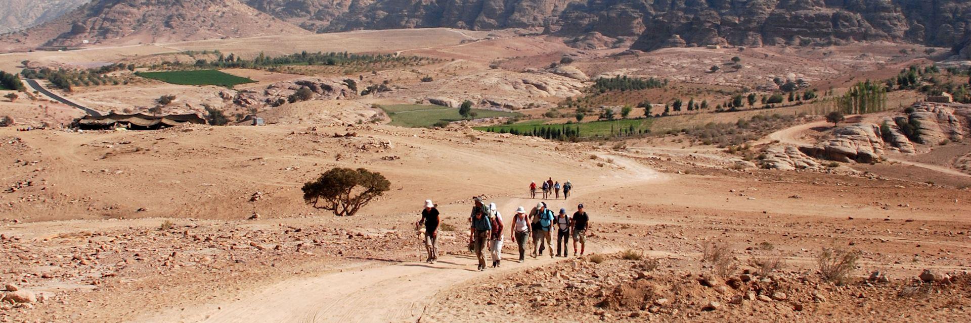 Walking towards Petra, Jordan