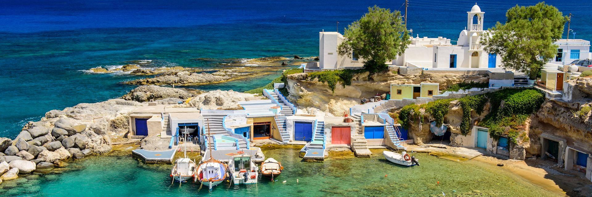 Traditional Greek village by the sea