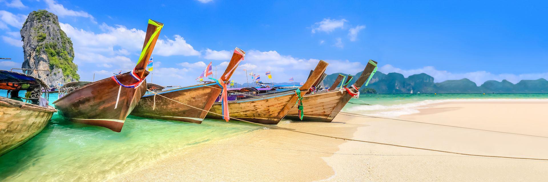 Longtail boats in Krabi, Thailand