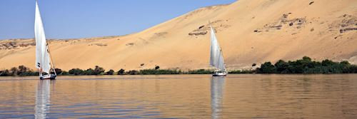 Felucca boats on the River Nile