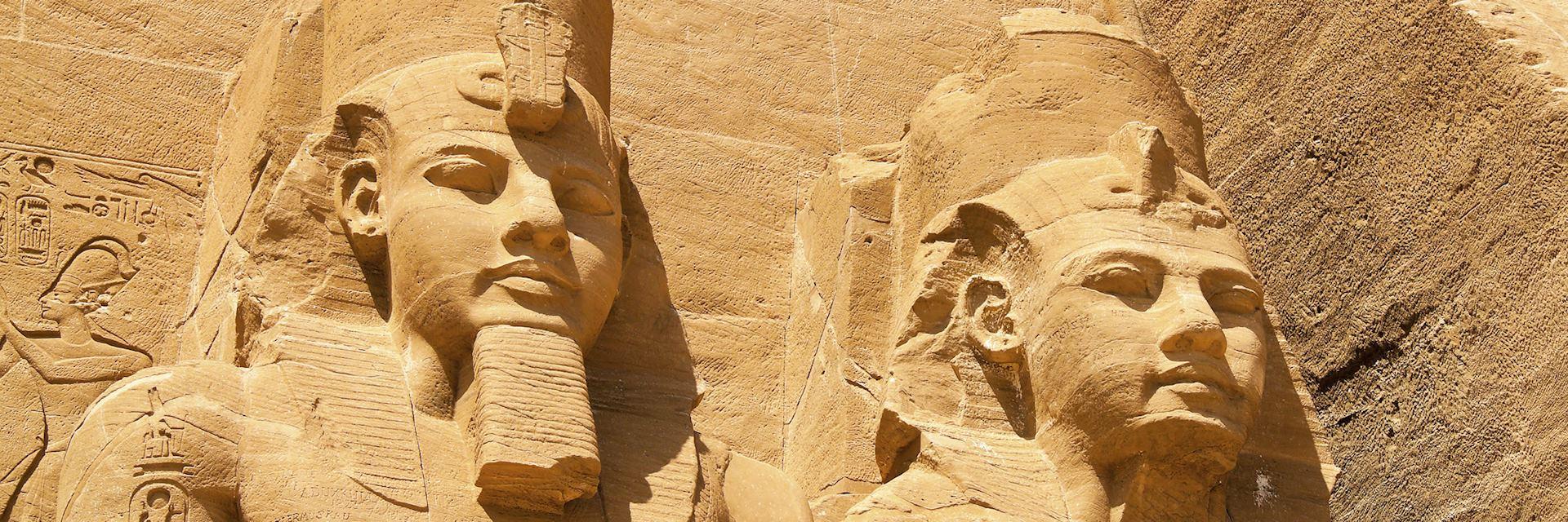 The rock temple at Abu Simbel