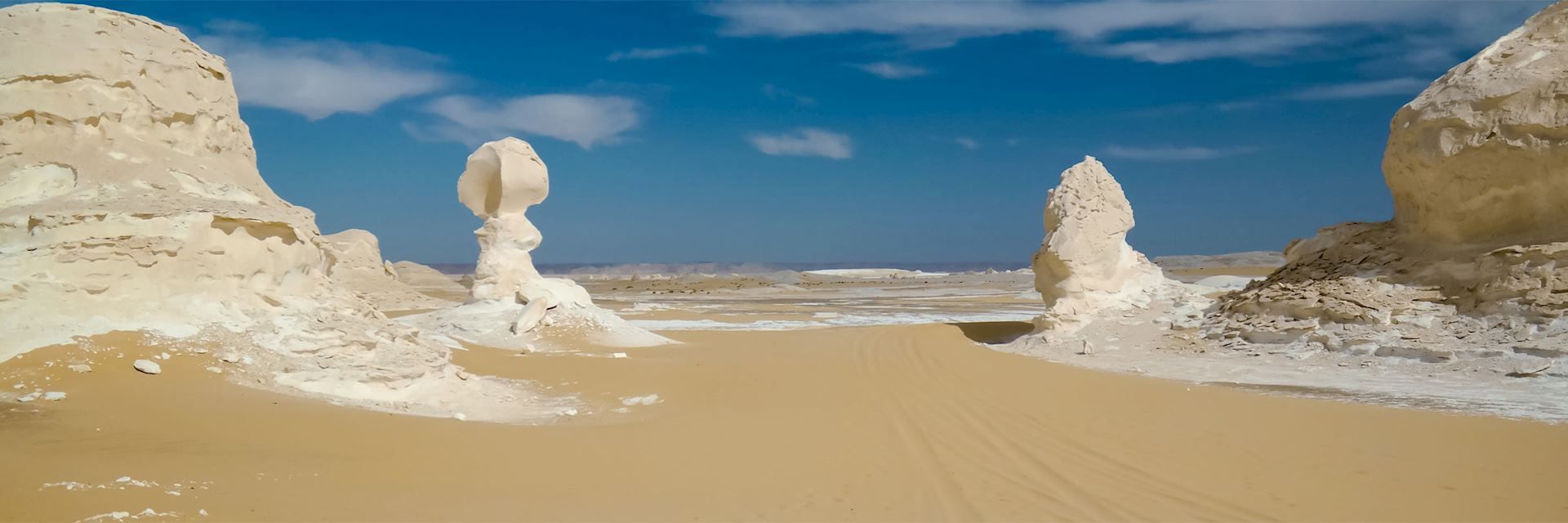 Natural sculptures in the White Desert