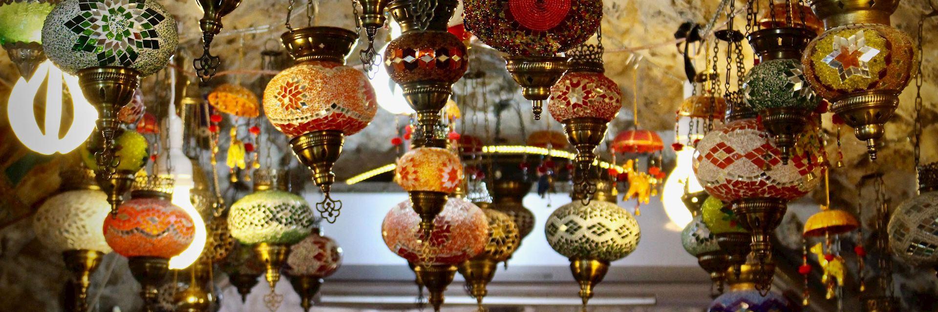 Lamps for sale in old Jerusalem