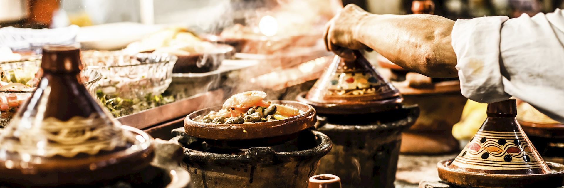 Traditional casserole dishes from Morocco