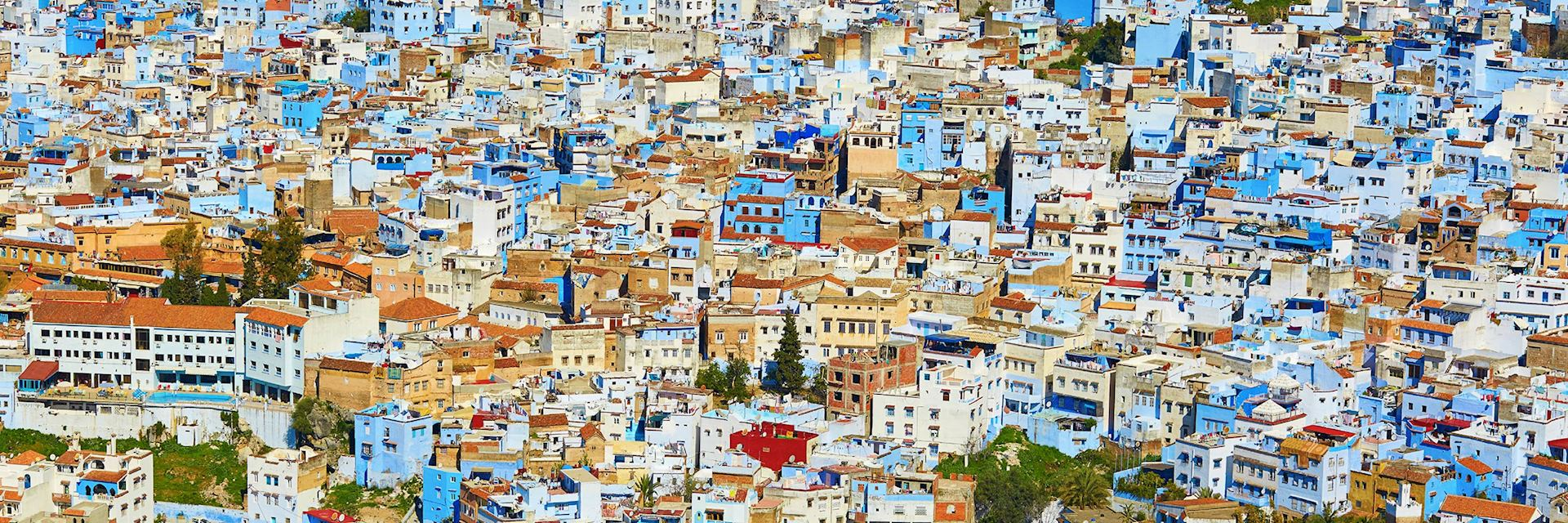 Blue and whitewashed buildings, Chefchaouen
