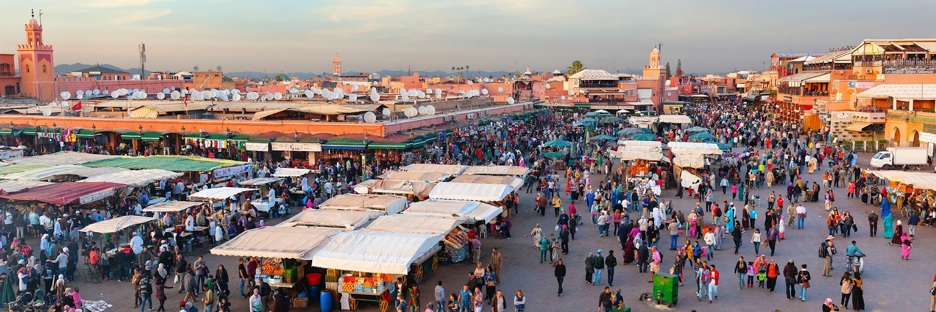 Sunset over Djemaa el Fna, Marrakesh