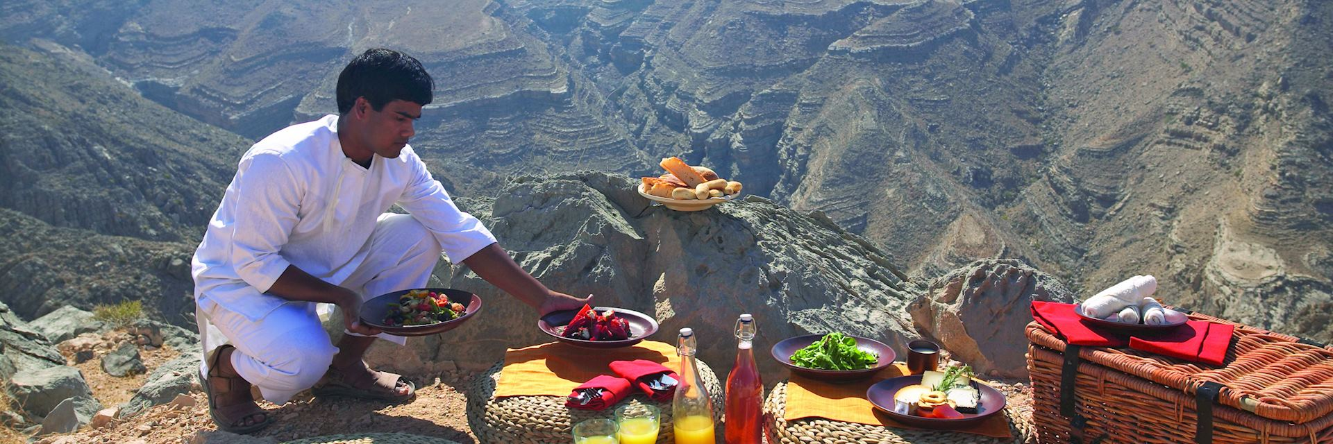 Mountain picnic from Six Senses at Zighy Bay, Oman