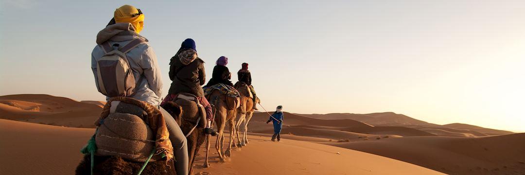 camel riding, Erg Chebbi, Morocco