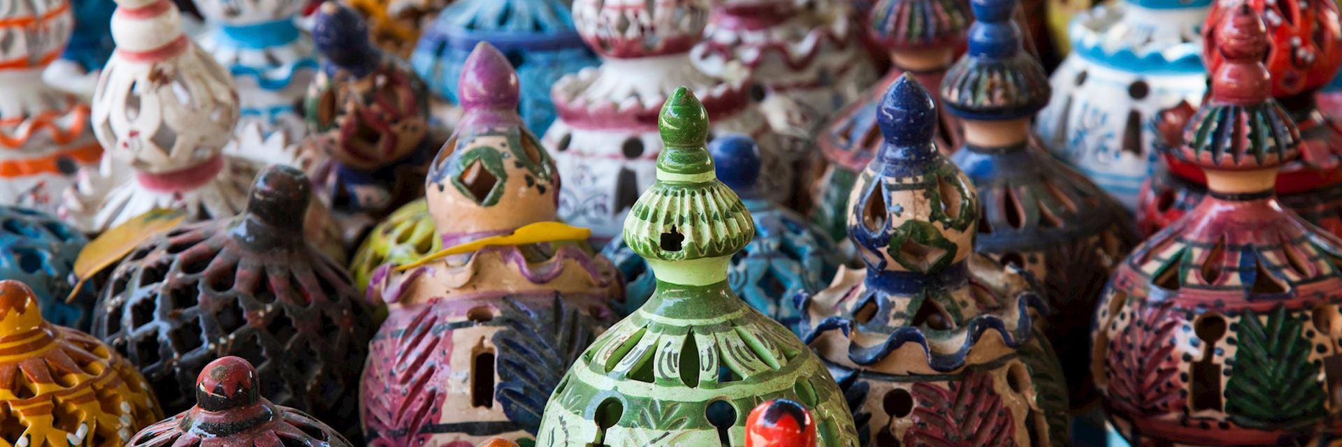 Tunisian lamps in a market, Jerba