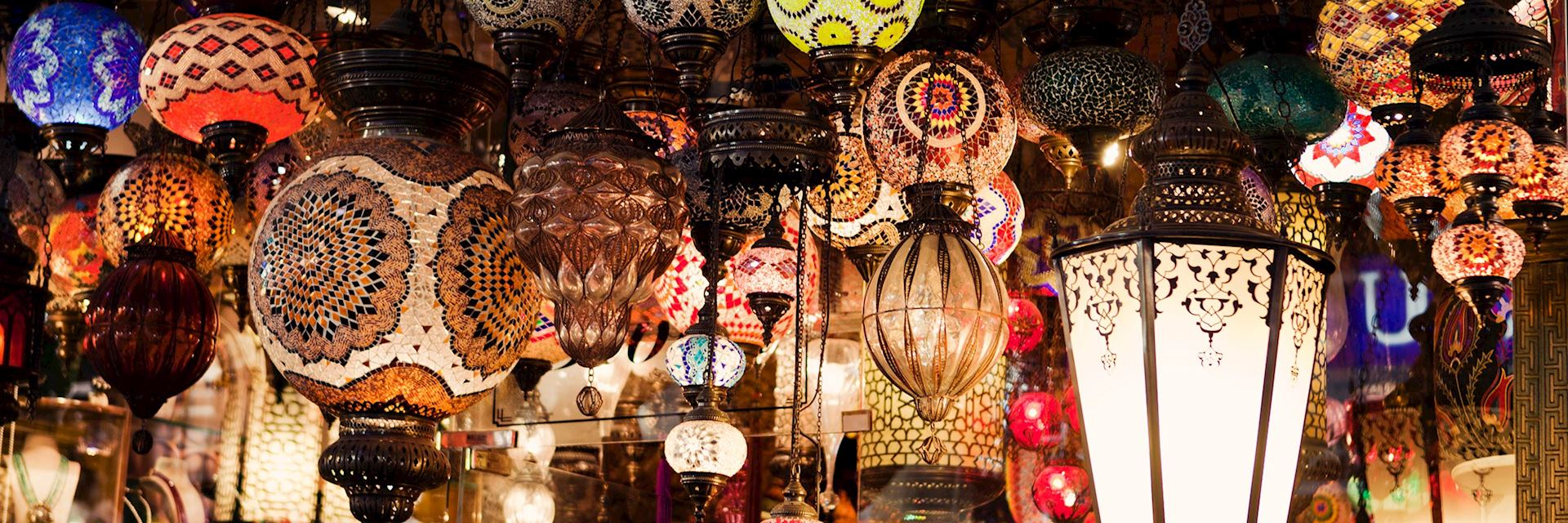 Turkish lamps for sale in the Grand Bazaar, Istanbul
