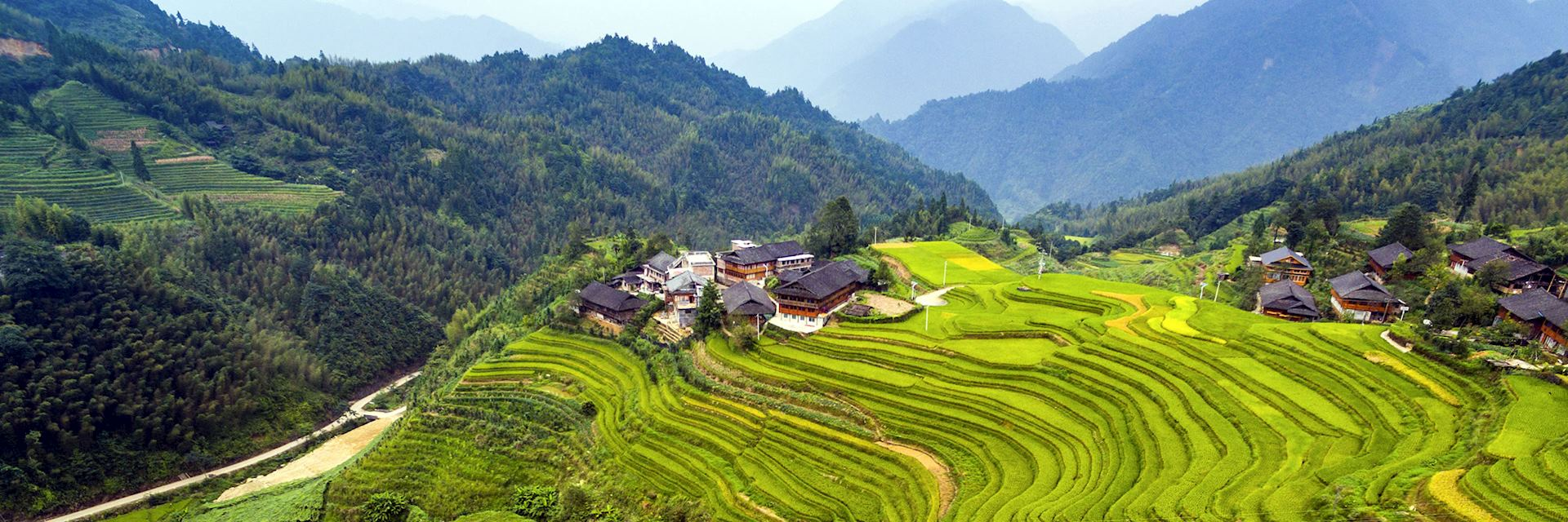 Terraced fields in Longji