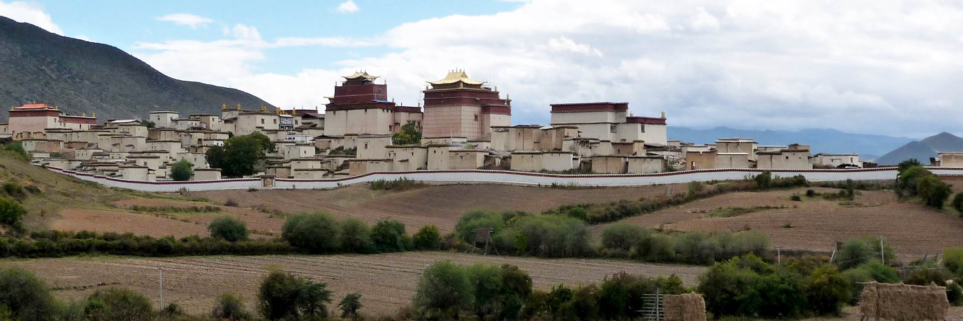 View of Songzanlin Monastery from Songtsam Retreat, Yunnan province