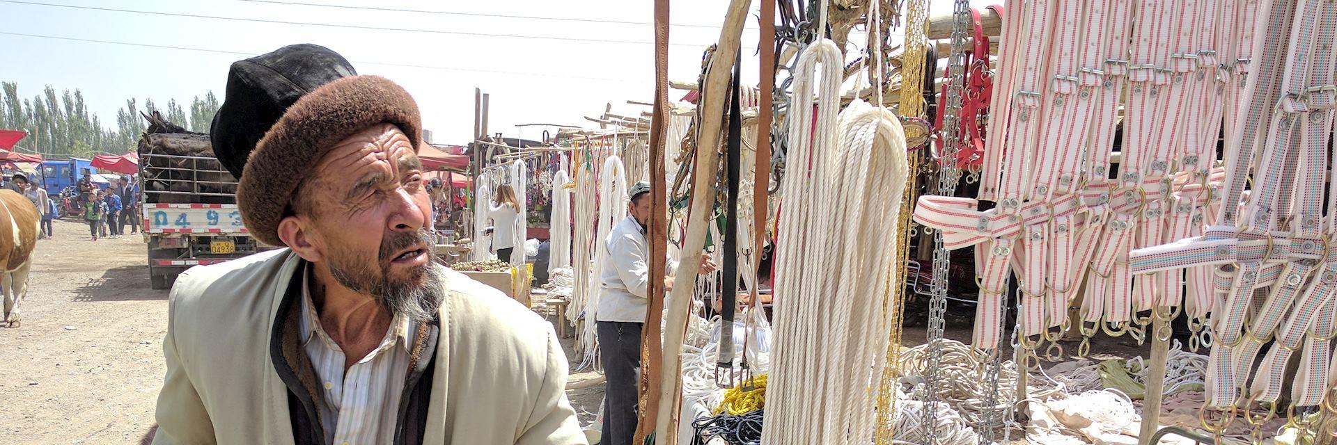 Man at Kashgar Sunday market