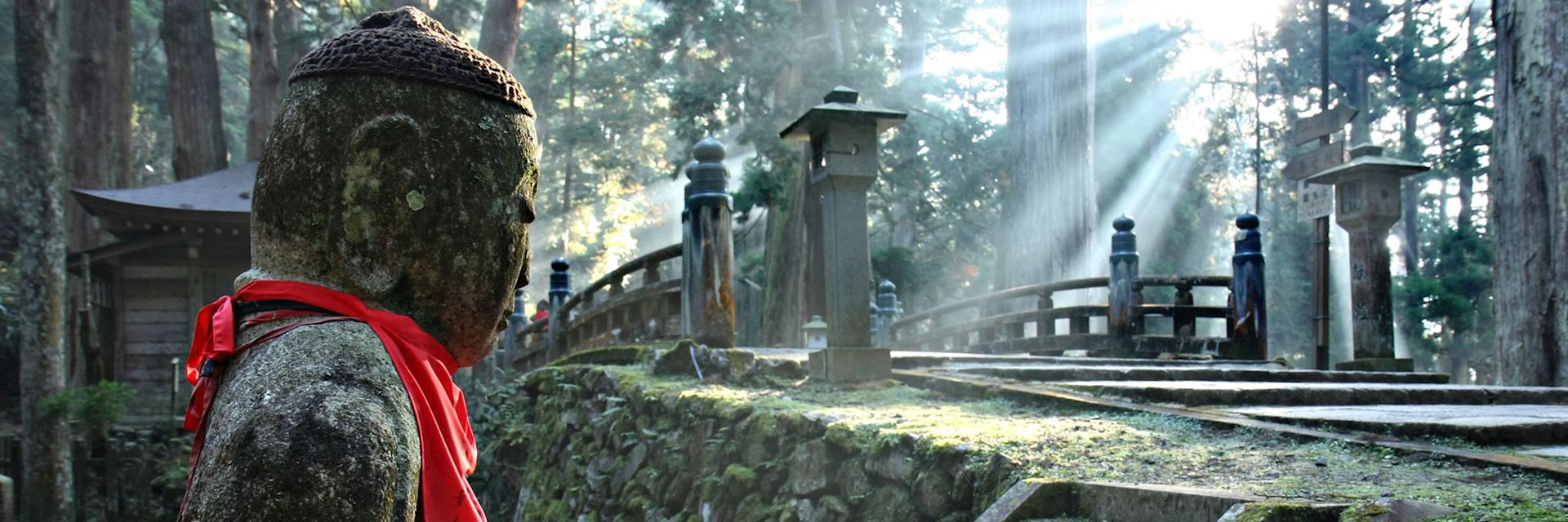 Okunoin Cemetery on Mount Koya is the largest in Japan