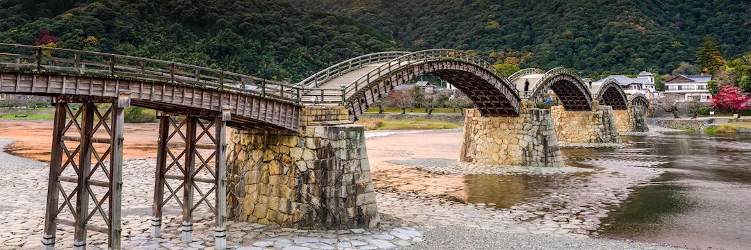 The 17th-century Kintai Bridge in Iwakuni