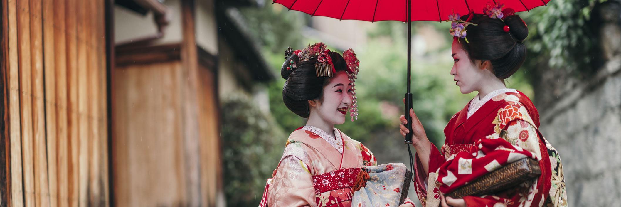 Geishas in Gion, Kyoto