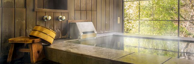 Vakantie japan-ryokan Hot spring bath (onsen)