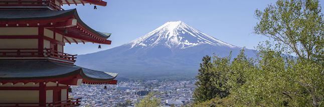 Vakantie japan Mooi uitzicht op Mount Fuji