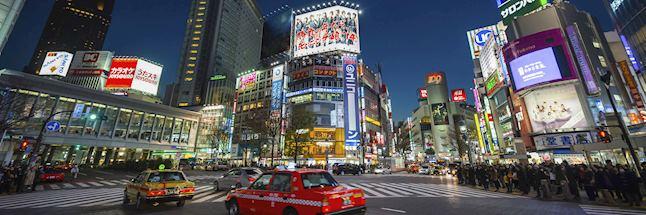 Vakantie japan-Tokyo-Shibuya in de avond