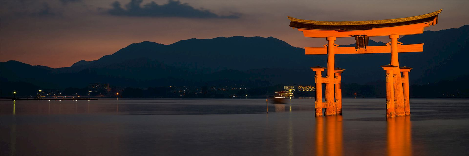 Floating torii gate at Miyajima Island