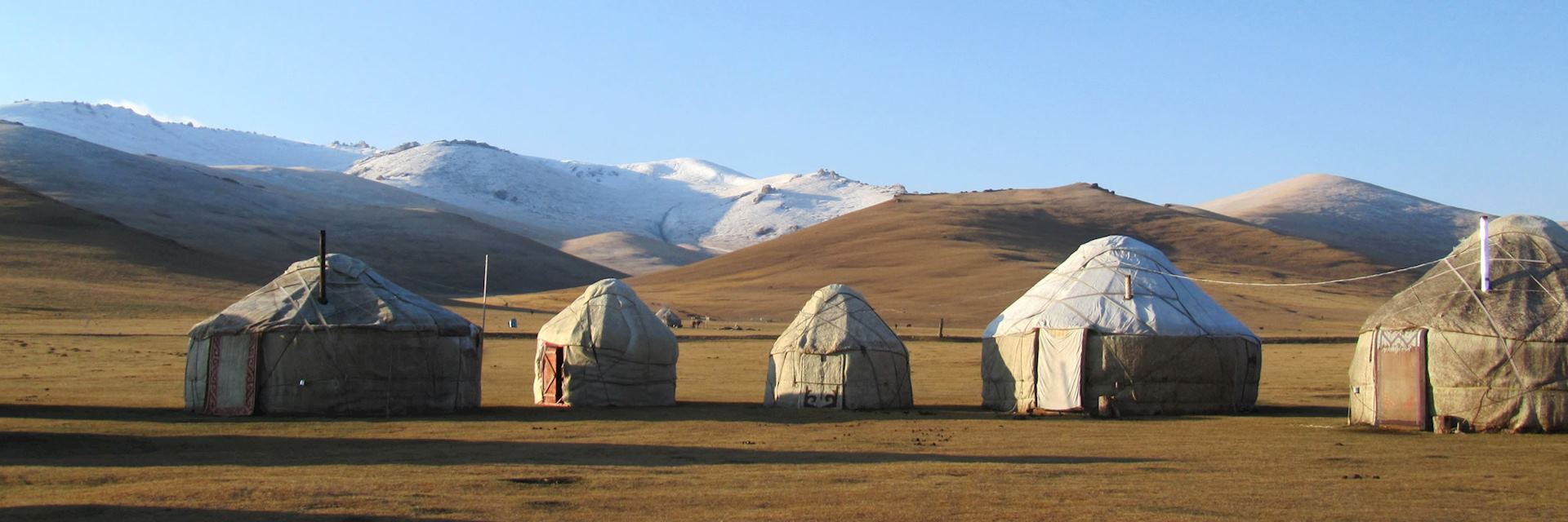 Traditional yurt on Song Kol Lake